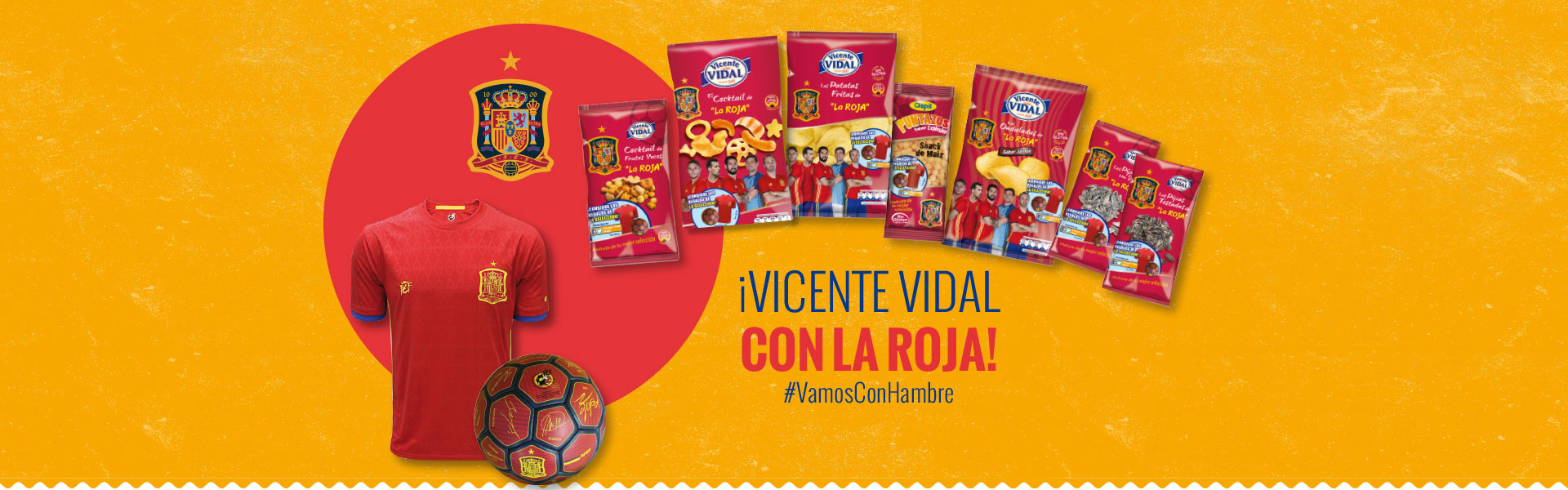 Vicente Vidal con La Roja